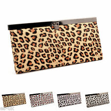 Womens Ladies Girls Fashion Leopard Print Clutch Purse Wallet Bag