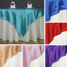 """15 SATIN SQUARE 60x60"""" Table OVERLAYS Wedding Party Toppers Decorations SALE"""