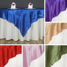"""24 x SATIN SQUARE 60x60"""" Table OVERLAYS Wholesale Wedding Party Toppers Supplies"""