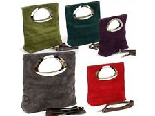 Made in Italy Wildleder-Handtasche ITALY BAG CLUTCH LUXUS Damen HANDTASCHE