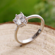 1.2ct Created Brilliant Diamond 18K White GP Ring *0021* choose your ring size