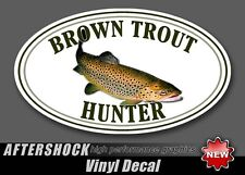 Brown Trout Fishing Sticker Fish Hunter Decal