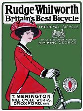 Rudge Whitworth Bicycle advertising vintage poster reprint