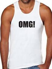 """New For Mens """"OMG!"""" OH MY GOD! Funny MMA HIP HOP Design Tank Top Shirt ALL SIZE"""