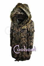 Womans/Ladies Parka Style Hooded Camouflage Army Coat (8,10,12,14)