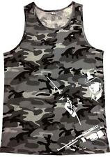 """Mens PRINTED GRAPHIC """"Gun-Men"""" PRO-5 CAMO Tank Top-Camouflage MMA ARMY All Size"""