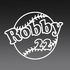 4 Inch CUSTOM BASEBALL NAME Vinyl Decal Sticker Die Cut SPORT TEAM PERSONALIZE