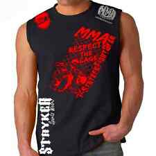 Stryker Sleeveless Muscle Tank Top Respect Cage MMA UFC W FREE Tapout Sticker t