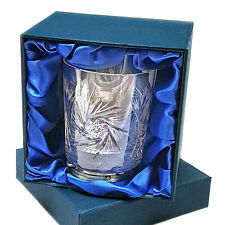 HAND CUT WHISKY TUMBLER LUXURY BOX 24% Lead Crystal Glass Ideal New Gift 25%OFF