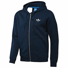 ADIDAS ORIGINALS MENS SPO FLOCK BLUE HOODED hoodie FULL ZIP JACKET TT