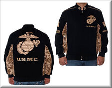 U.S. Marine Corps Embroidered Twill Jacket by JH Designs - ON SALE!