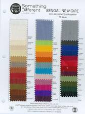 """72"""" Wide Milliken Polyester Bengaline Moire Fabric"""