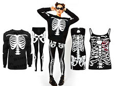 Ladies Girls New Skeleton Halloween Costume Skull Print Stretch Leggings Pants