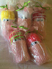 Washcloth Diaper Baby w/ Womens Socks Baby Shower Guest Gift Party Favor Game