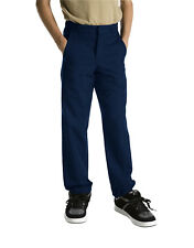 DICKIES BOYS NAVY FLAT FRONT SCHOOL PANTS (NEW, Sizes 4 to 20)