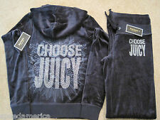 NWT Juicy Couture Peck Blue Juicy Rays Velour Hoodie Pant Tracksuit Set S M $246