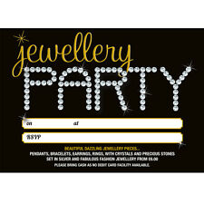 Personalised Party Event invitations for jewellery, pamper parties - any theme!