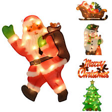 Light Up Christmas Plastic Mesh Silhouette Window Wall Festive Decoration