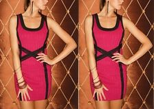 WOW COUTURE NEW LADIES CRISS CROSS DETAIL BANDAGE CLUB PARTY COCKTAIL MINI DRESS