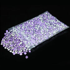 1000-10000pcs 4.5MM lilac&silver Diamond Confetti Wedding Table Scatter Crystals