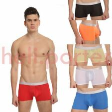 JQK Sexy Soft Mens Sheer Brief Boxer Men Underwear with many color