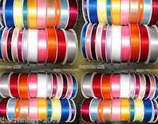 ***20 Colours Quality Double Satin Ribbon 3mm 7mm 10mm 15mm 19mm 25mm 35mm ***