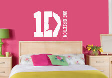 ONE DIRECTION 1D Logo Wall Sticker /Wall Decal /Laptop Sticker /Mirrors/ 3 sizes