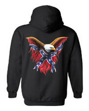 MEN'S PULLOVER HOODIE Rebel Eagle CONFEDERATE SOUTHERN FLAG PRIDE S-2X 3X 4X 5X