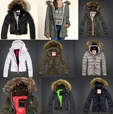 New Hollister by Abercrombie & Fitch Womens All Weather Jacket Faux Fur Hoodie