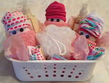 Washcloth Diaper Baby Gift Basket Shower Guest Party Favor Game Prize Socks Bath
