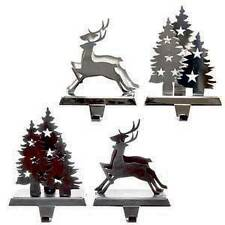 Danson Decor REINDEER OR 3D CHRISTMAS TREE DESIGN STOCKING HOLDER X85236 matte