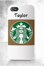Starbucks FREE NAME Personalization Personalized iPhone 4S 5 5S 5C 6 Custom Case