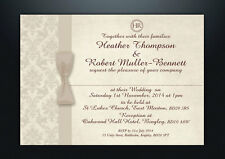 PERSONALISED WEDDING DAY & EVENING INVITATIONS WITH ENVELOPES & P&P