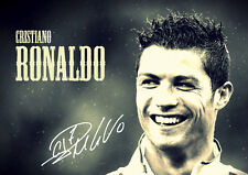 chistiano ronaldo signed picture - real madrid - football - A3 poster
