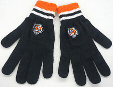 NFL Cincinnati Bengals Knit Winter Gloves 100% Acrylic  Women/Youth NEW!!
