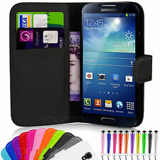 WALLET LEATHER FLIP CASE COVER FOR SAMSUNG GALAXY S4 I9500 FREE SCREEN PROTECTOR