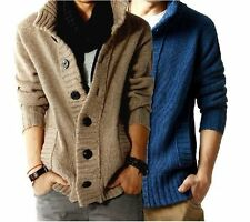 Wool Men's New Korea Sweater Thick Cardigan Men Coat Jacket Sweater