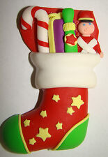 LARGE SILICONE MOULD CHRISTMAS FILLED STOCKING BOY GIRL ICING CAKE CUPCAKE FIMO