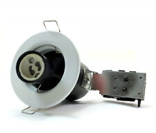 240V MAINS GU10 FIRE RATED RECESSED DOWNLIGHT FITTING WHITE FINISH
