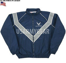 US Made Army Military USAF Running Waterproof PT Sweat Jacket Reflective Strip