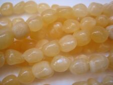 "Yellow Jade Nuggets - 15"" Strand - Gemstone Beads - Free Delivery!"