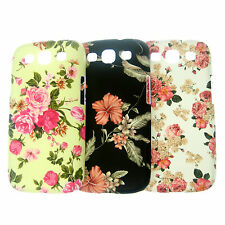 Flower Floral Hard Back Case Cover For Samsung Galaxy S3 SIII i9300 & Free Film