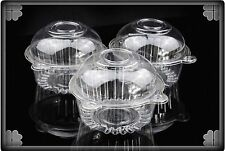 20-100 PCS Cupcake Small Cake Muffin Plastic Holders Cases Boxes Containers _cb1