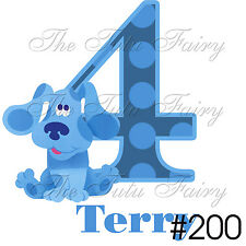 Blues Clues Birthday Shirt boy girl Name Age personalized 1st 2nd 3t 4t 5t 6 7