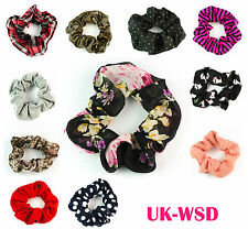 Fabric Elastic Hair Scrunchie Scrunchy Hair Band Head Band Bobbles Pony Back Set