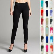 Thin Leggings Solid Long Stretchy Skinny Elastic Waist - One Size
