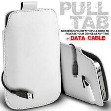 LEATHER PULL TAB POUCH SKIN CASE COVER & DATA CABLE FOR VARIOUS ACER PHONE