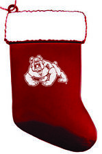 California State University, Fresno - Chirstmas Holiday Stocking Ornament - Red