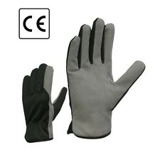 Synthetic Leather Work Safety Gloves Builder Mechanic DIY Gardener Lorry Driver