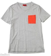 NWT HUGO (Red Label) By Hugo Boss Contrast Pocket Tee T-Shirt In Gray